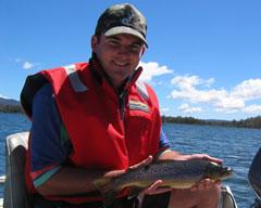 Ben holds a wild Tasmanian trout