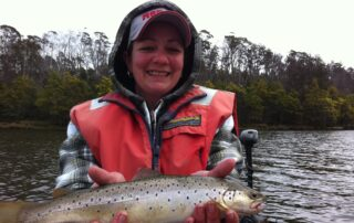Kylie with a Four Springs trout