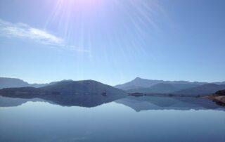 Lake Burbury's majestic reflections on a still day.