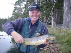 Stuart with a 4 pound brown trout